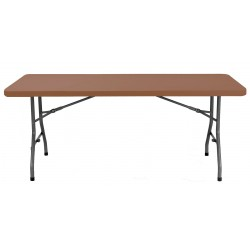 Table plastique polypropylène marron - DMC Direct