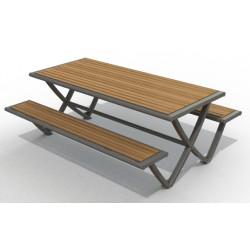 Table de pic nic extérieure pour collectivités