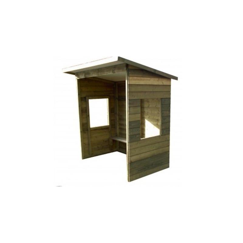 abri de bus en bois avec fen tres abri de bus en bois. Black Bedroom Furniture Sets. Home Design Ideas