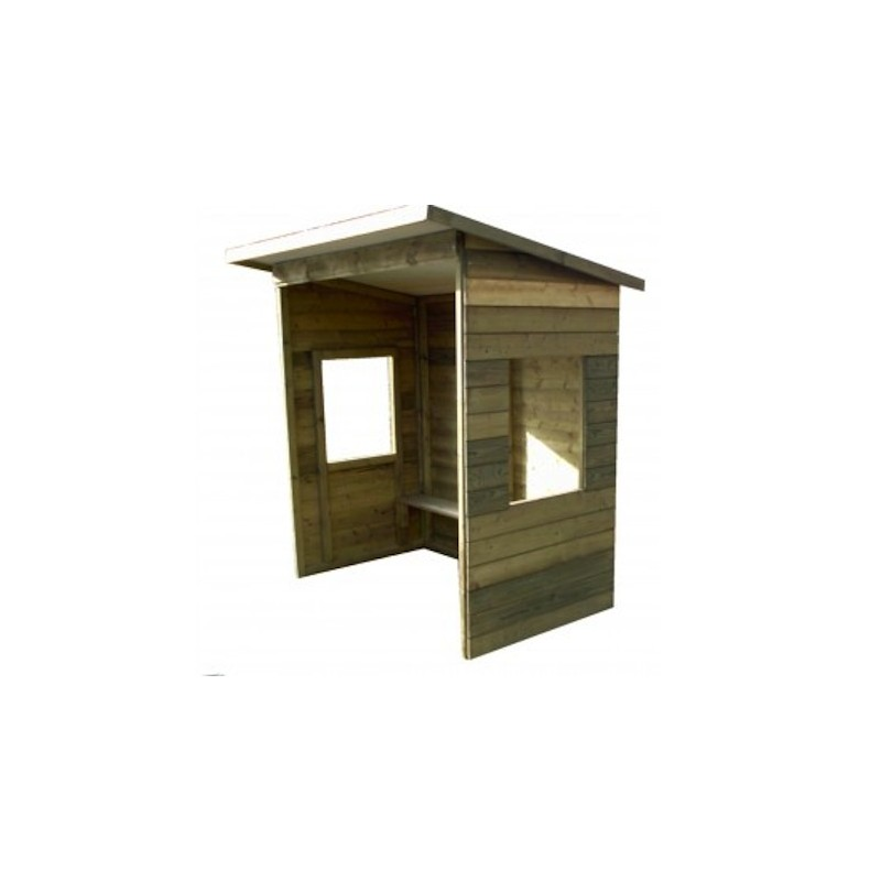 abri de bus en bois avec fen tres abri de bus en bois disponible en 2 dimensions dmc direct. Black Bedroom Furniture Sets. Home Design Ideas