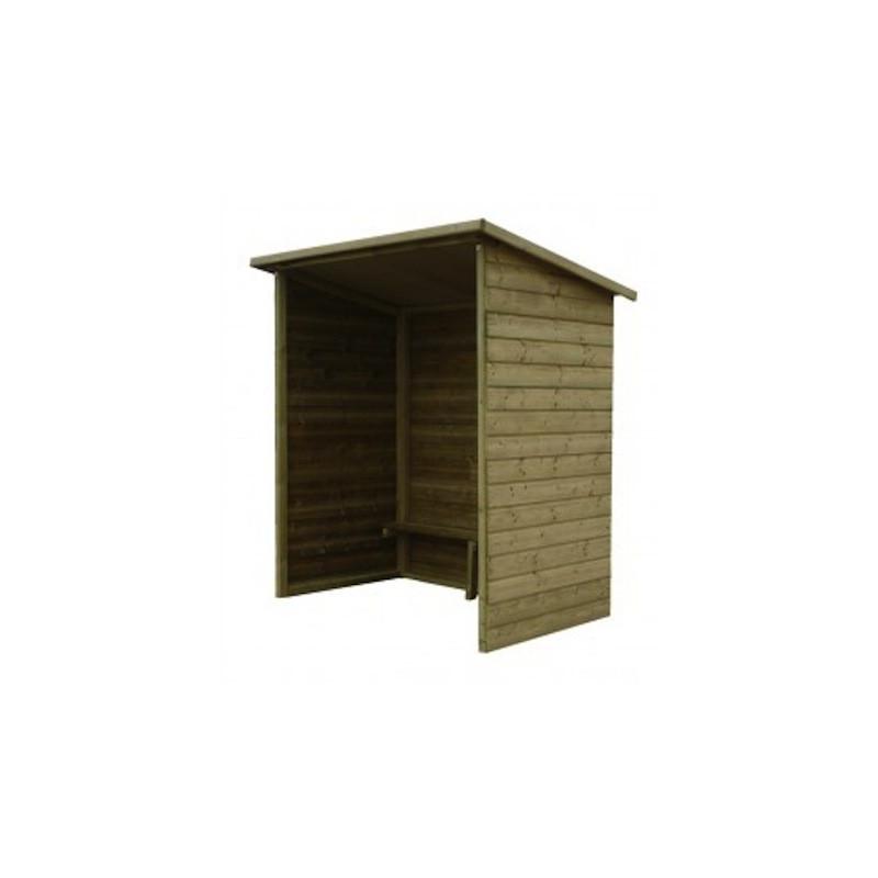 abri bus en bois sans fen tre station de bus en bois dmc direct. Black Bedroom Furniture Sets. Home Design Ideas