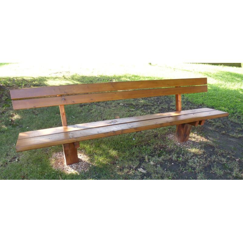 banc en bois avec dossier banc en bois autoclave banc public en bois avec dossier. Black Bedroom Furniture Sets. Home Design Ideas
