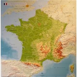 Carte de France physique