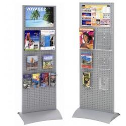Totem d'affichage - Porte brochures