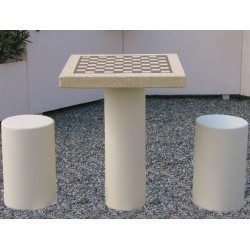 TABLE DE JEU EN BETON