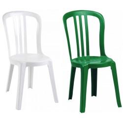 Chaise empilable en plastique Miami