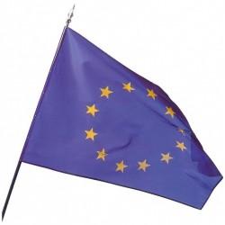 Drapeau Européen sur hampe en bois