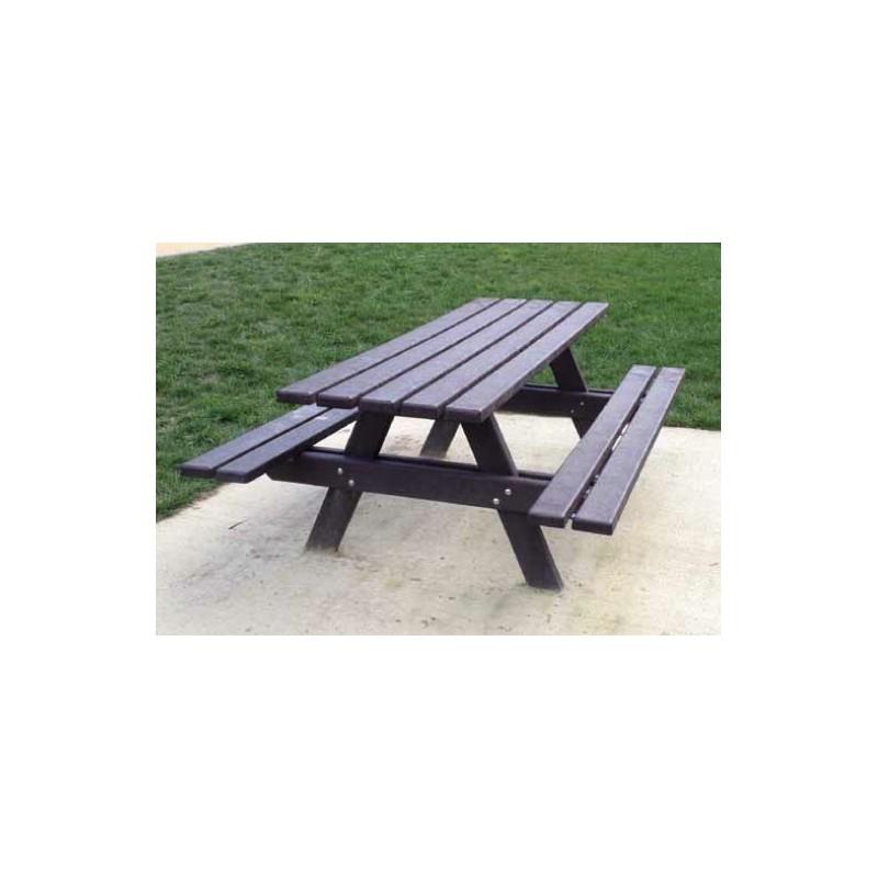 table pique nique plastique recycl mobilier urbain en recycl dmc direct. Black Bedroom Furniture Sets. Home Design Ideas