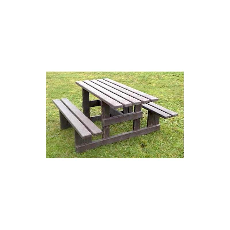table picnic plastique recycl antibes mobilier urbain en recycl dmc direct. Black Bedroom Furniture Sets. Home Design Ideas