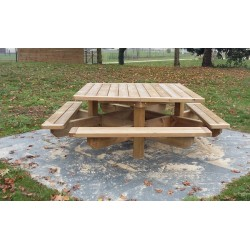 Grande table de pique-nique en bois, grande table de pique-nique 18 ...