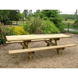 10 places - Grande table pique-nique en bois pour collectivités