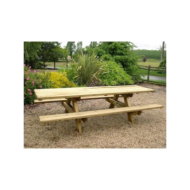table bois picnic affordable table de piquenique en bois. Black Bedroom Furniture Sets. Home Design Ideas