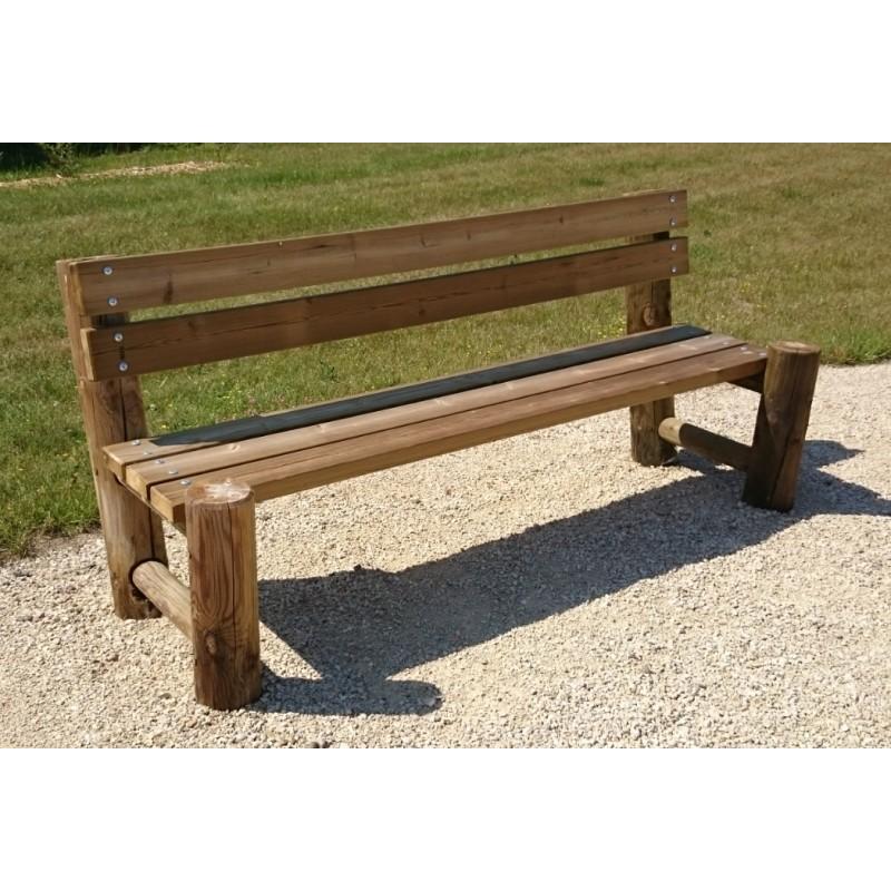 banc en rondin de bois194 cm banc en rondin de bois trait autoclave. Black Bedroom Furniture Sets. Home Design Ideas
