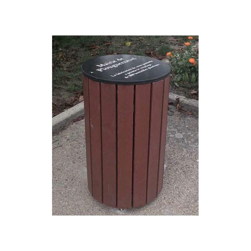 corbeille de ville en plastique recycl achat de mobilier urbain en recycl dmc direct. Black Bedroom Furniture Sets. Home Design Ideas