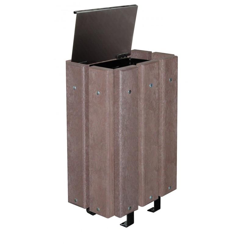 poubelle de ville en plastique recycl mobilier urbain dmc direct. Black Bedroom Furniture Sets. Home Design Ideas