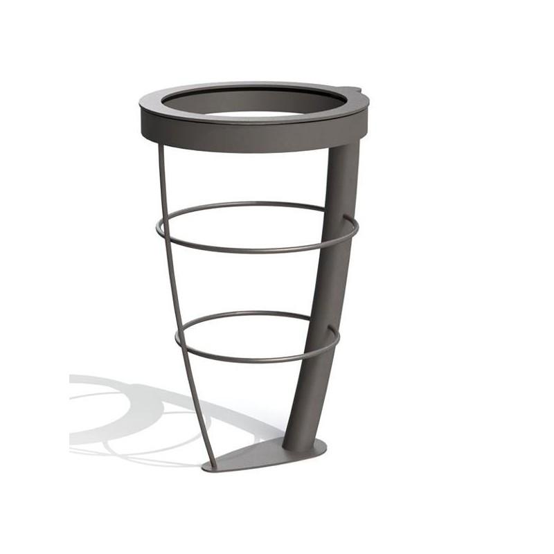 corbeille urbaine vigipirate poubelle en acier dmc direct. Black Bedroom Furniture Sets. Home Design Ideas