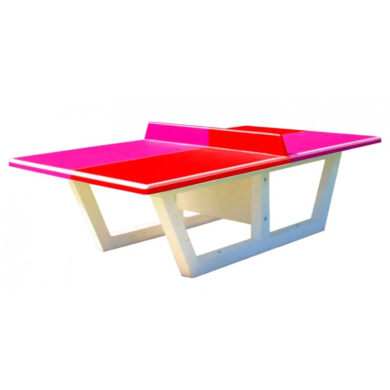 Quipements pour collectivit s table de ping pong b ton dmc direct - Table ping pong exterieur beton ...