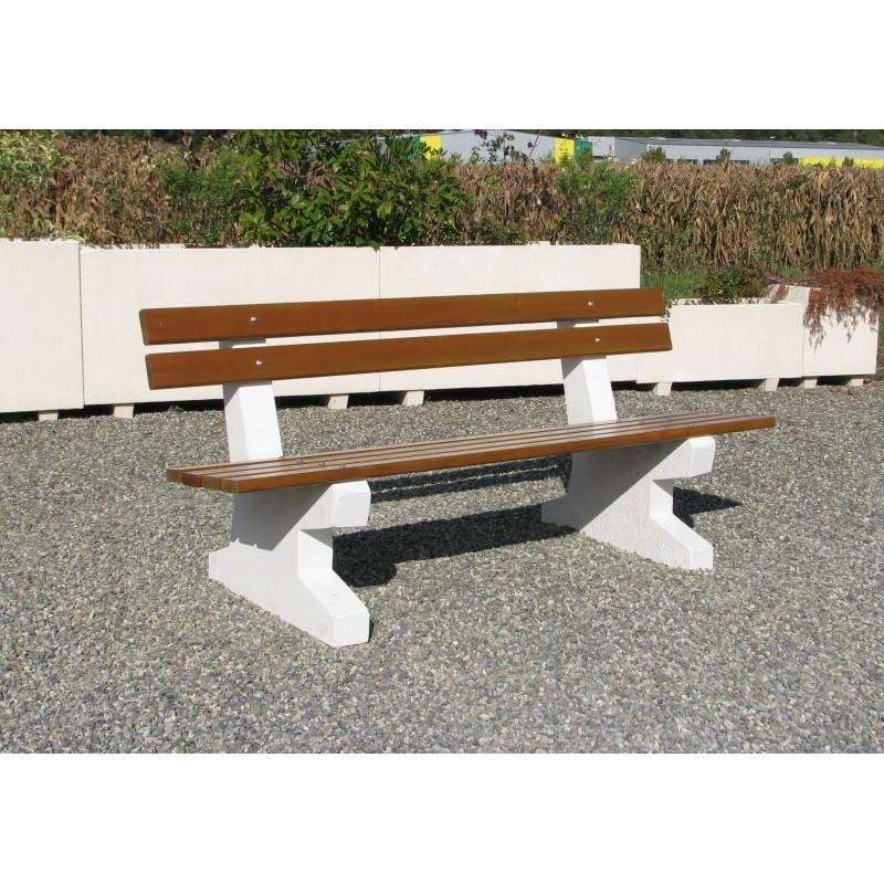 banc de ville en b ton et bois banc de ville pour jardin public ou cours d 39 cole. Black Bedroom Furniture Sets. Home Design Ideas