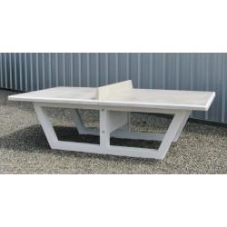 Table ping pong béton armé gris naturel