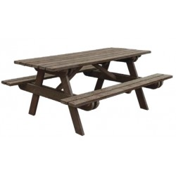 Table de pique-nique extérieure en plastique recyclé - DMC Direct