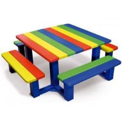 Table de pique-nique colorée pour enfants - DMC Direct