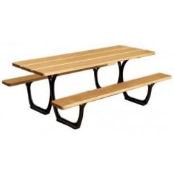 Table pique-nique Séville lames en bois exotique et acier