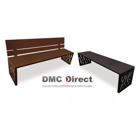 mobilier urbain en m tal banc public acier banc de ville design dmc direct. Black Bedroom Furniture Sets. Home Design Ideas