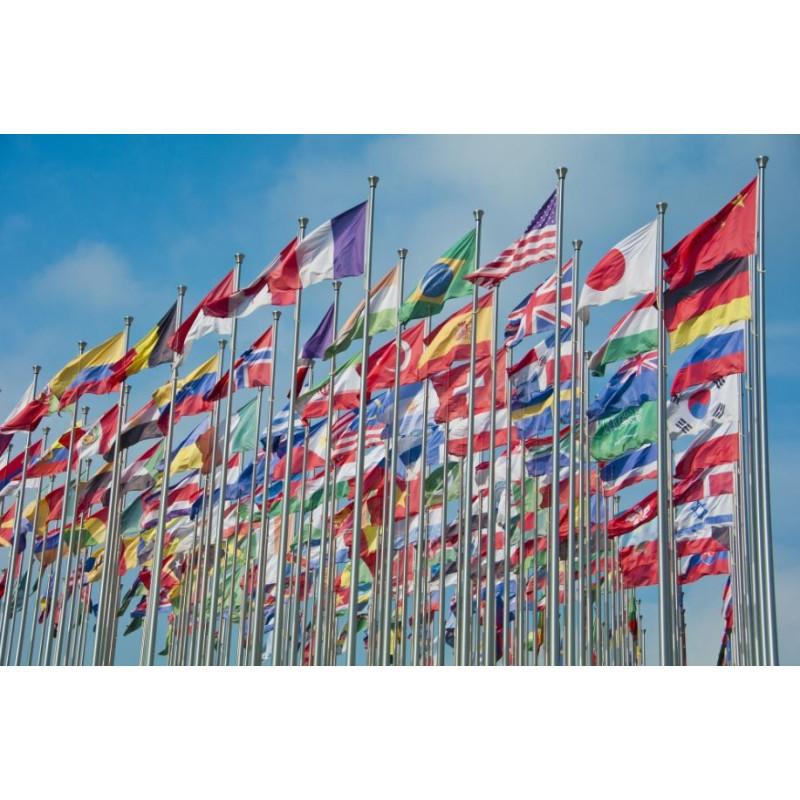 Drapeaux Officiels du monde à hisser sur un mât