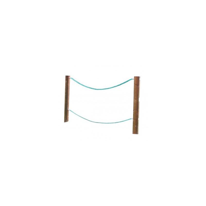 Visuel du jeu suspendu pour aire de jeux Pont de Tarzan