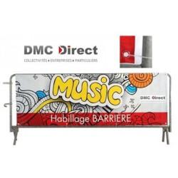 Habillage Simple face avec œillets pour barrière de sécurité - DMC Direct