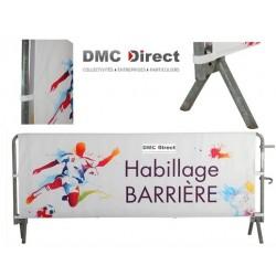 Habillage Double Face avec Velcro pour barrière mobile de sécurité - DMC Direct