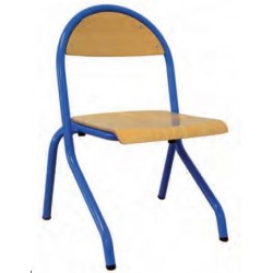 Chaise maternelle appui table et empilable assise en applique Cathy - DMC Direct