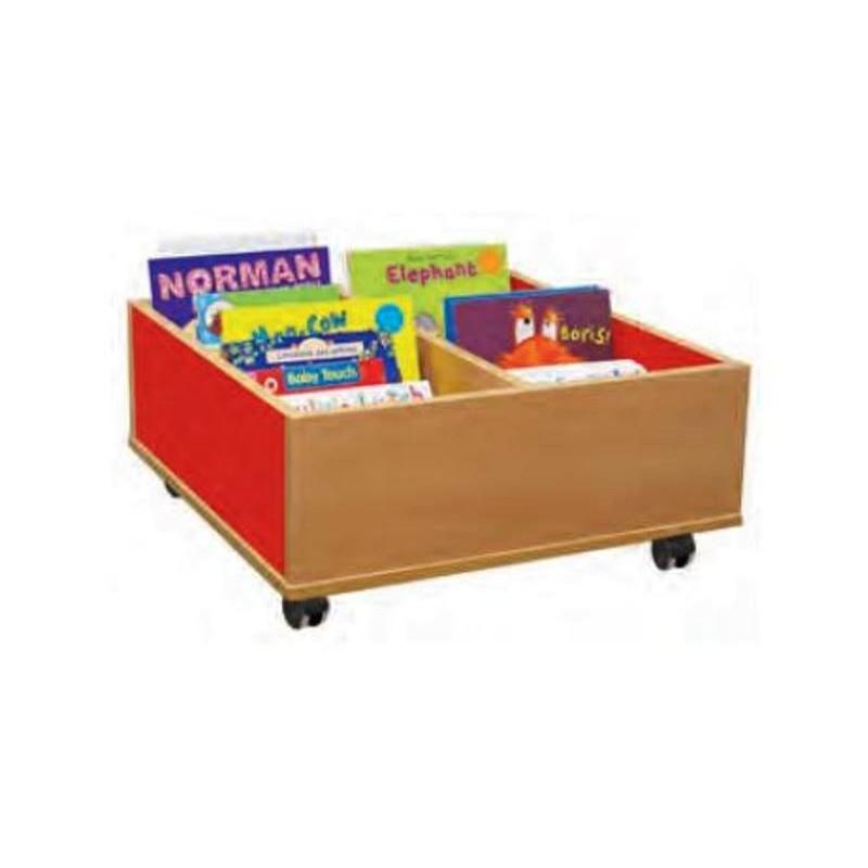 bac livres sur roulettes bac bd en m lamin meuble de rangement de bd. Black Bedroom Furniture Sets. Home Design Ideas
