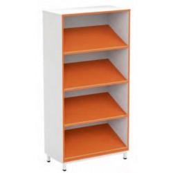 Présentoir livre bibliothèque à tablettes inclinées et fixes