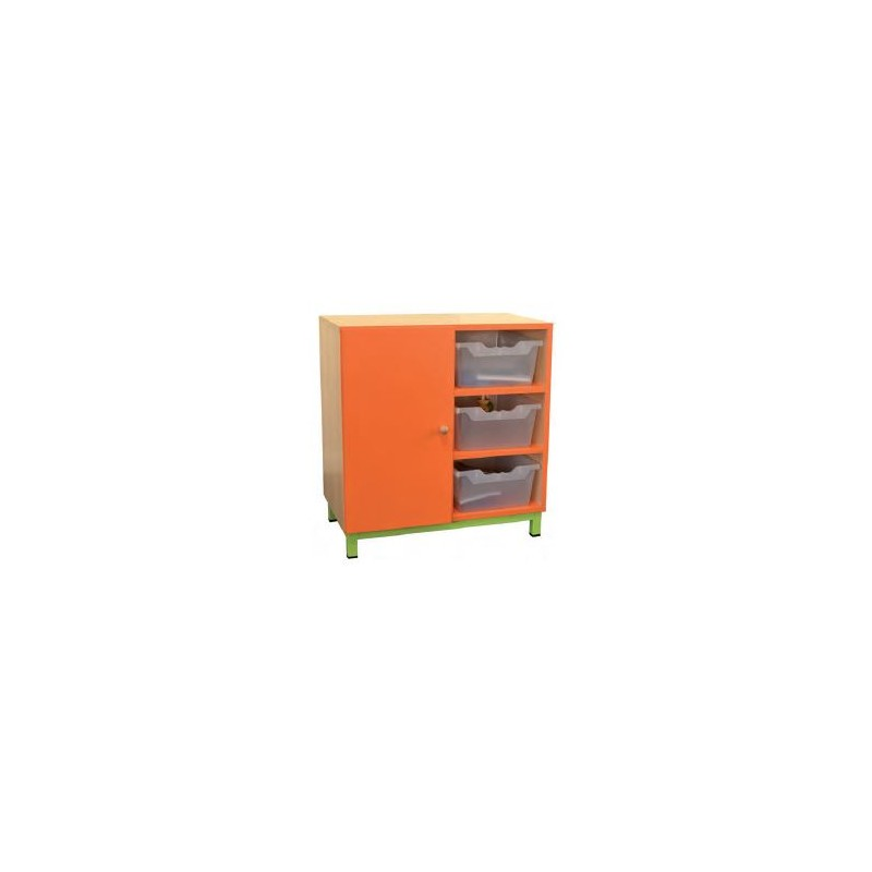 Meuble cases fixes mobilier rangement maternelle dmc for Meuble 6 cases