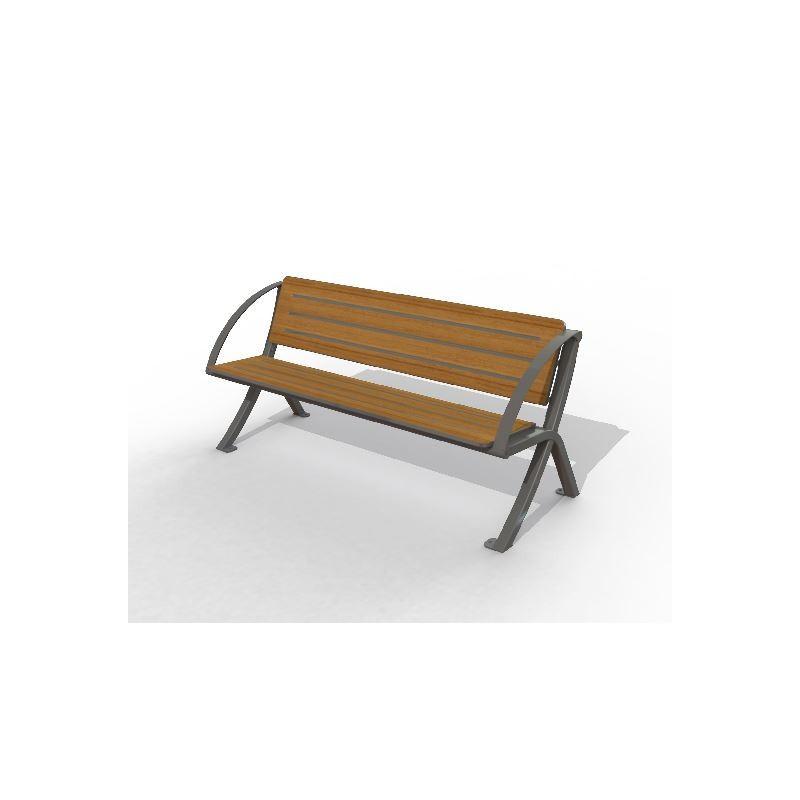 banc urbain en compact banc urbain structure acier et lames en compact dmc direct. Black Bedroom Furniture Sets. Home Design Ideas