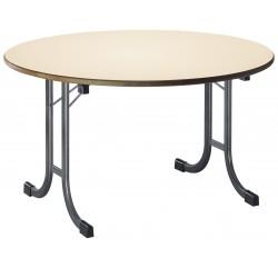 Table en mélaminé pliante ronde Varèse