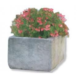 Jardinière rectangle en pierre reconstituée