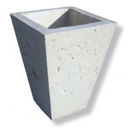 Vase cône en pierre reconstituée