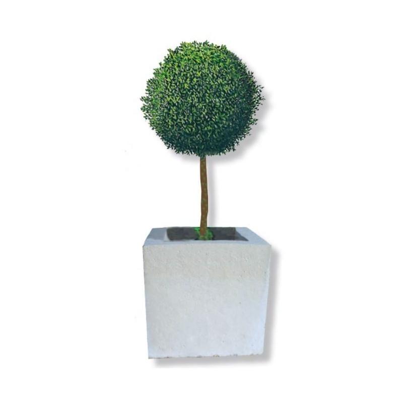 Visuel de la Jardinière cube en pierre reconstituée - DMC Direct