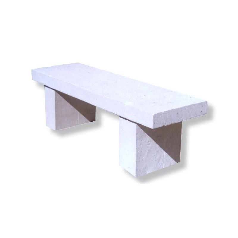 banquette rustique en pierre reconstitu e mobilier urbain. Black Bedroom Furniture Sets. Home Design Ideas