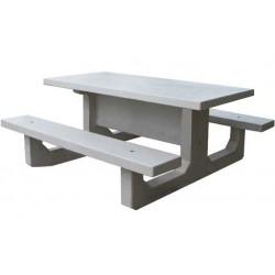 Table de pique-nique en béton extérieure