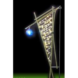 Décor Corne stylisée lumineuse en bambou - décor pour candélabre
