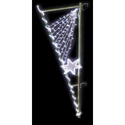 Visuel du décor Comète lumineuse en bambou pour candélabre de collectivités - version nuit - DMC Direct