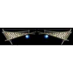 Visuel de l'illumination voûte de rue Corne stylisée en bambou - DMC Direct