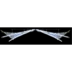 La Voile Nébuleuse lumineuse structure bambou traverse pour rue - DMC Direct