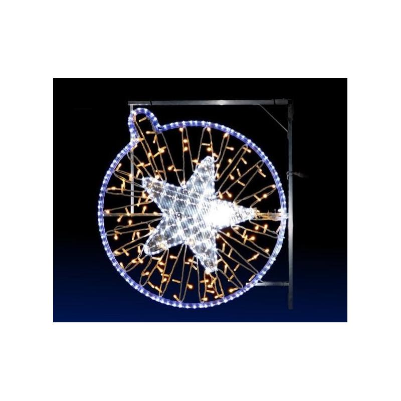 Visuel Supernova lumineuse de Noël pour poteau - DMC Direct