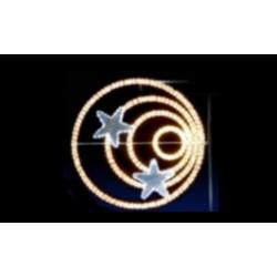 Visuel de l'Illumination Étoiles Hypnotiques pour lampadaires de ville - DMC Direct