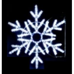 Décor pour poteau Illumination Étoile des neiges