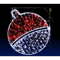 Décor pour poteau Illumination Boule de Saturne